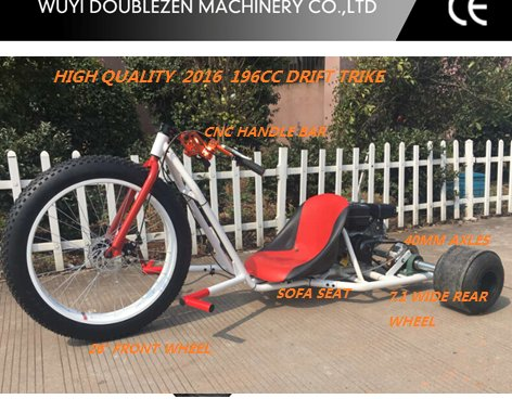 Top Quality Motor Drift Trike Tricycle New Off Road Motorized 3 Fat Wheel