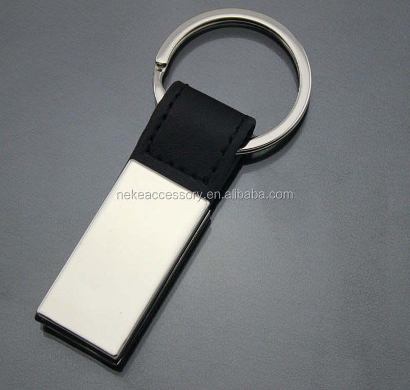hot selling custom real leather key chain customized pu keychain