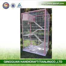 QQ Pet Factory Wholesale New Stainless Steel Pet Cat Cage Pet House With Climbing Ladders
