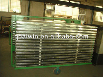 trolley for rubber sheets or tubes