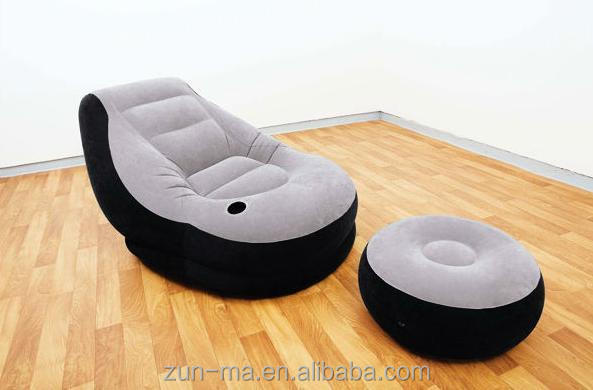 Inflatable Lounge Chair Large Gaming Relax Air Furniture Bean Seat Sofa Ottoman