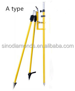 High quality Centering Rod Surveying Bipod optical Prism Pole Tripod