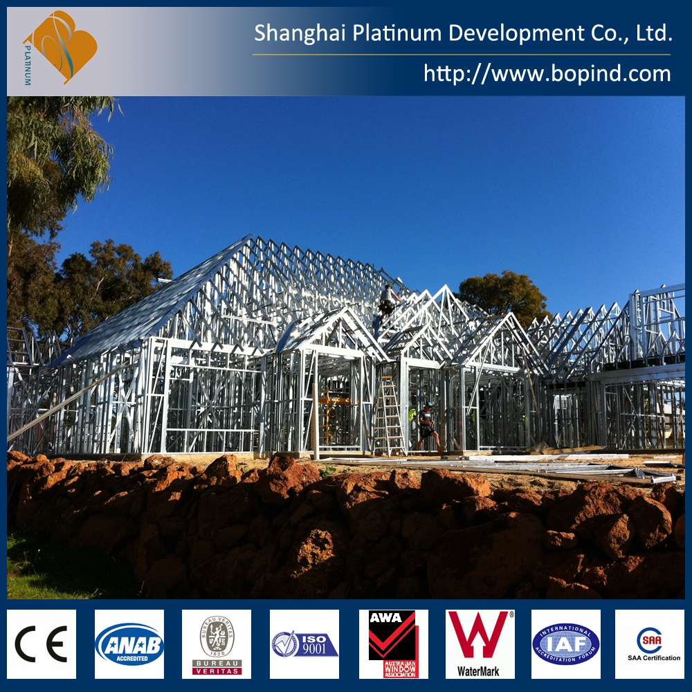 Steel roof truss systems of prefab house with Australian standard