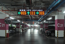 intelligent parking guidance system with garage red green light parking space indicator