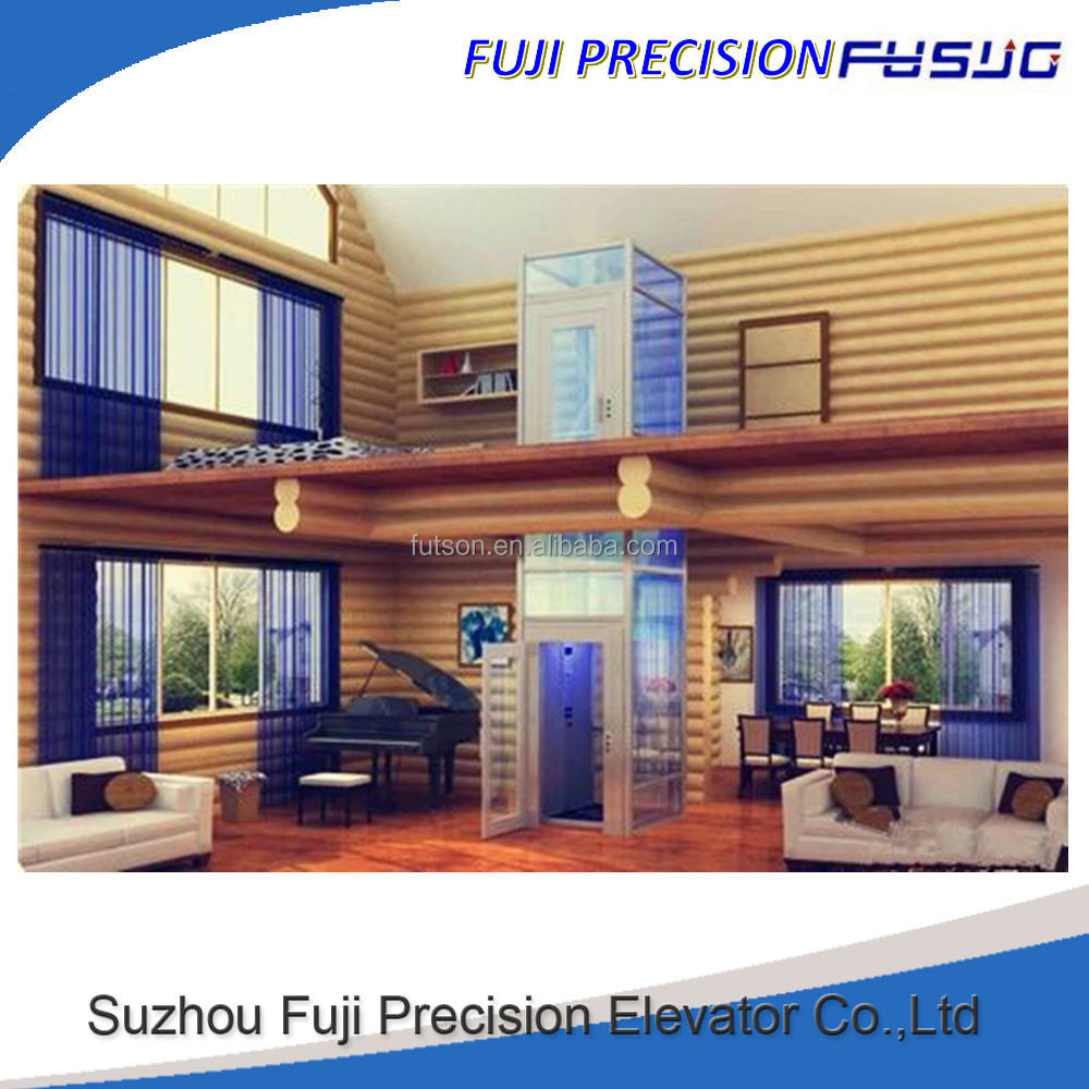 Fuji Small Cheap Homes Lift Residential Glass Elevators with Good Price