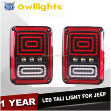 High Quality new brake reverse turn function led pmma lens jk rear tail light for j-eep wrangler