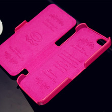 BIG SALE! High quality for iphone 5 5s case cover genuine real cow leather flip case lychee pattern(pink)