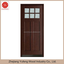 solid wood doors with mahogany skin American interior door china supplier