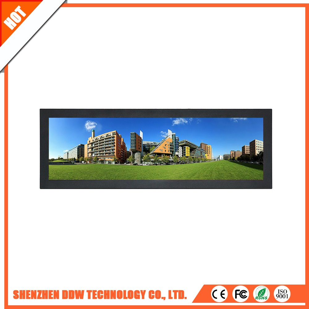 Fashionable high quality TN Mode spicing Stretched lcd digital counter display monitors for advertising