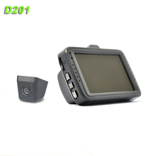 D201 dvr car camera g-sensor Sunplus chip Car DVR 3.0'' full HD 1080p car dvr two camera