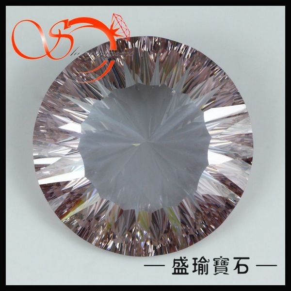 25mm lavender moon shape synthetic cubic zirkon for jewelry CZRD0099