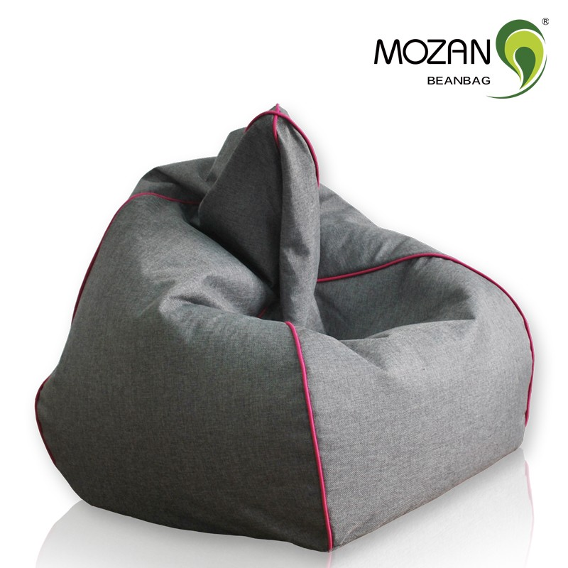 Modern Style Bedroom Corner Bean Bag Sofa Set Fabric With