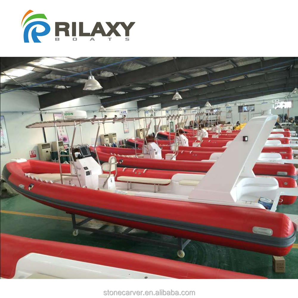 Rilaxy 28ft Large Wide Rigid Inflatable <strong>Boat</strong> RIB830B with Orca 866 Red Tube, S316L T-top, hydraulic steering and shower system