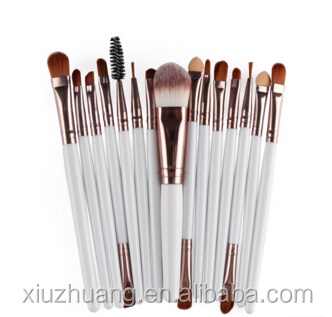 Wholesale Cheap 15 Pieces Custom Logo Synthetic Hair Wood Handle Cosmetic Brush Makeup Brushes private label cosmetics makeup br