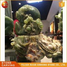 High Quality Reality Polish Natural Jade Fruit Carving