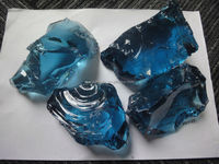 sea blue glass rocks for landscaping