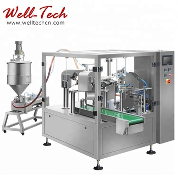 CE Approved Rotary Pouch Tomato Paste Packing Machine