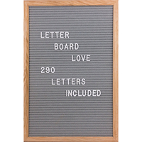 colourful wrap Wooden paper mdf density Advertising Letter Board letterboard for office or home decor