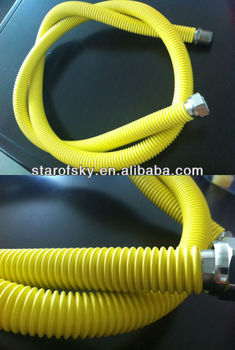 STAINLESS 316L flexible gas cooker hose