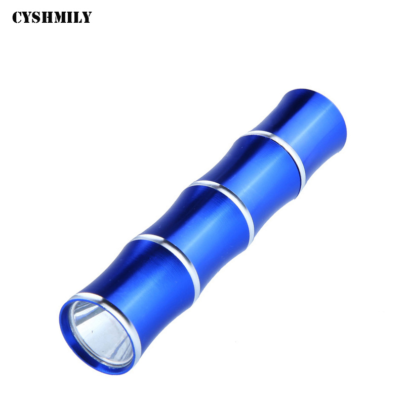 CYSHMILY Wholesale High Power Aluminum Alloy Bamboo Portable Fishing Flashlight 50 Lumen Led Mini Camping Torch