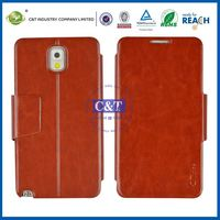 C&T Wallet leather flip cover case for samsung galaxy note 3