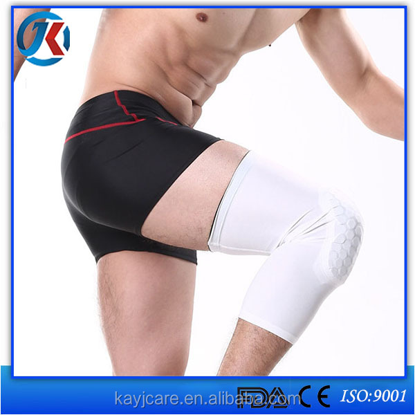 alibaba express honeycomb tube long knee brace with pads