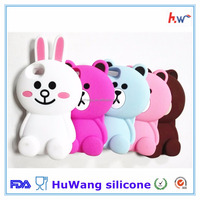 High quality cute animal silicone phone case for iphone
