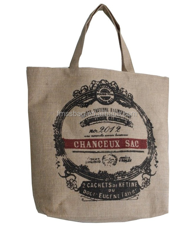 High Quality Screen Printing Machine Cheap Jute Burlap Bag With Handle