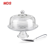 Home gifts handmade clear glass dome cake cover