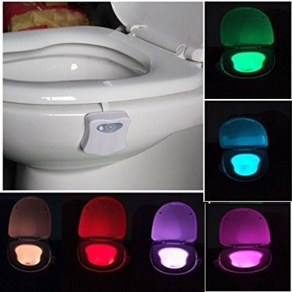 Hot selling LED Toilet Nightlight with Red/Green Light Color