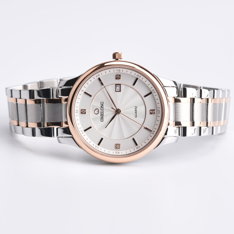 5 ATM Waterproof Stainless Steel Watch with Japanese Movt