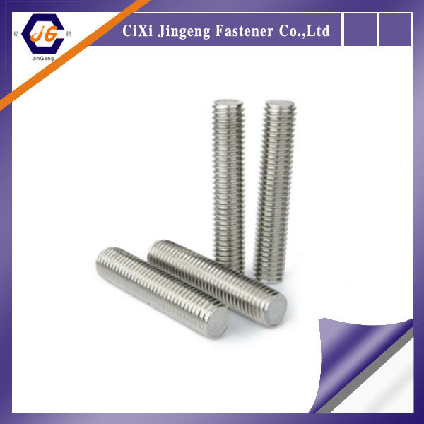 A2-70 stainless steel hollow end thread bar