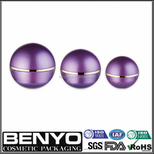 purple color different volumes amazing cosmetic ball shape jar