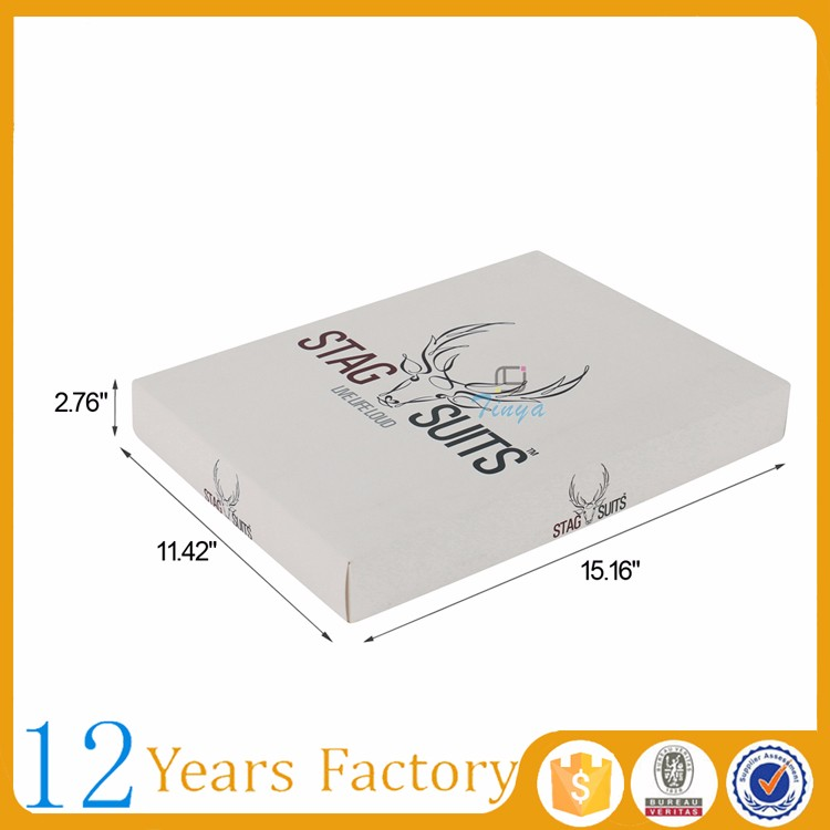 white apparel packaging supplies shirt boxes wholesale