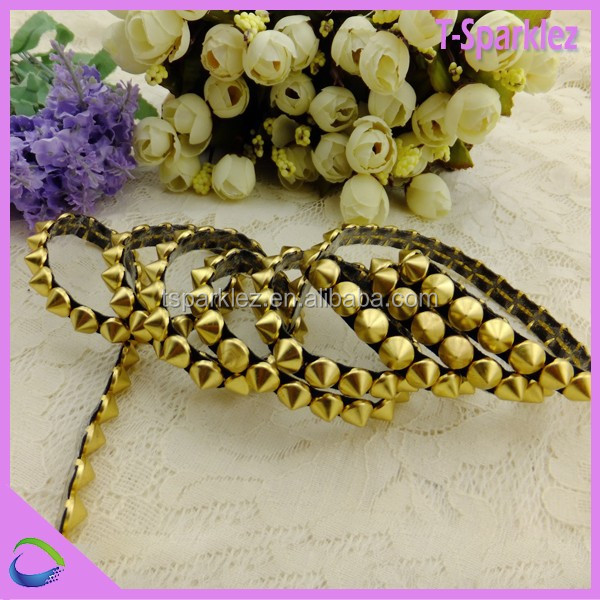 bulk sale decorative metal strip decoration hotfix item