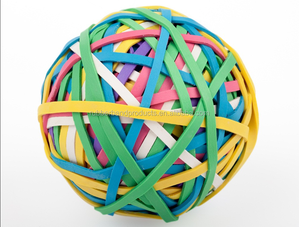 Wholesale Soft Color Elastic Silicone Band Ball for Office Decorative