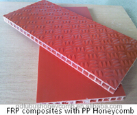 truck body use FRP Composites Panel PP Honeycomb Core
