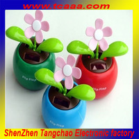 car decoration waving plastic solar flowers