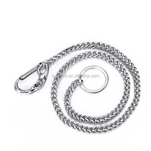 New Design Silver Plated Stainless Steel Keychain Wallet Trousers Jeans Waist Chain