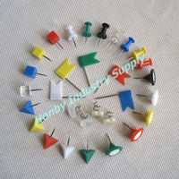 China Factory Supply Various Shape Color Thumb Tack Push Pins