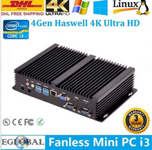 Cheap Fanless mini pc Core i5 4200U 8GB RAM 256GB SSD Industrial Computer Support 3D games 1080P 4K HD Laptops computers
