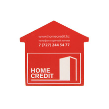 High quality house shape logo printing custom paper fridge magnet