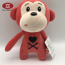 New Design Plush Stuffy PP Cotton Stuffed Red Monkey Toy
