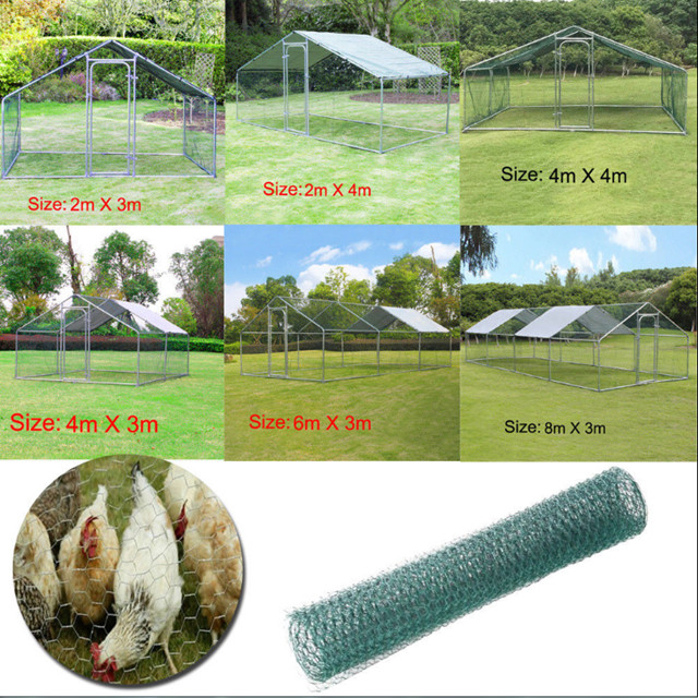 3mx2m garden walk in chicken run for hens dogs poultry rabbit ducks coop activity with roof