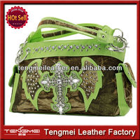 WHOLESALE CONCEALED WEAPON BIG BLING CROSS HANDBAG PURSE
