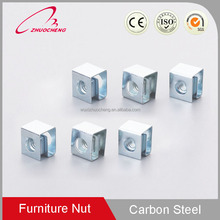 Hot Sale Good Price zinc plated stainless steel auto spring clip speed M4 M6 cag nut for wood furniture