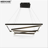 Square Shape LED Pendant Lamp Black Color LED ring Light MD83059-3R