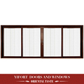 Custom size 4 panel roller shutter double swing glass door