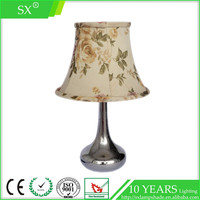 Traditional vintage style colorful natural flowers pattern desk trumpet light shade