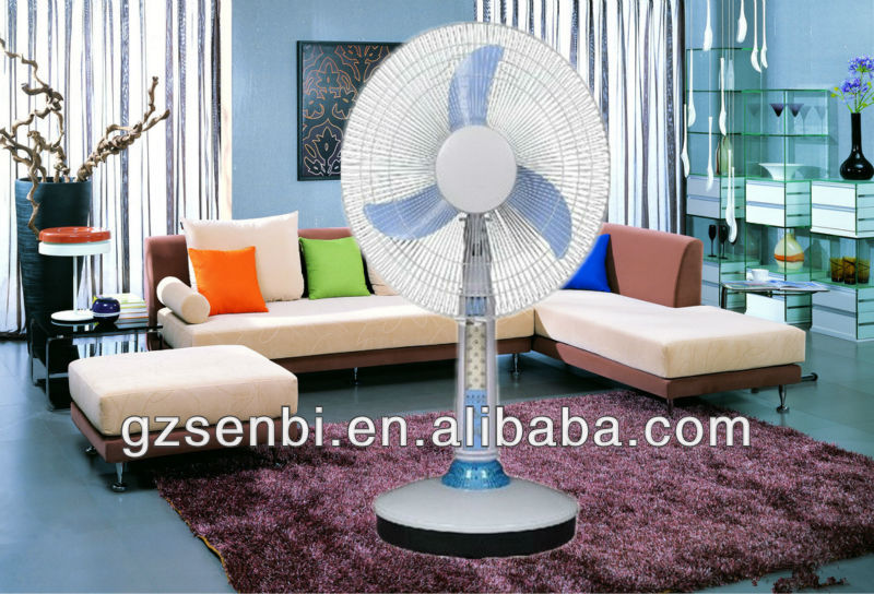 best selling 16 inch 12V 2014 rechargeable fan with led light